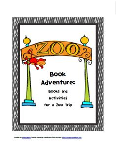 The Zoo Book Adventure packet FREE is a thematic unit based on zoo themed books that I have used in my teaching as a reading specialist as well as in my. Preschool Zoo Theme, Preschool Ideas, Teaching Ideas, Preschool Learning, Teaching Science, Teaching Reading, Craft Ideas, Zoo Scavenger Hunts, Zoo Book