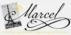 P22 Marcel is named after Marcel Heuze, a Frenchman who was conscripted into a German labor camp during World War II. While in the camp, Marcel wrote many letters to his family in rural France, and those letters were used by designer Carolyn Porter as the basis for the font.