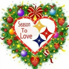 Steelers love Steelers Pics, Steelers Football, Christmas Wreaths, Merry Christmas, Pittsburgh Sports, Steeler Nation, Christmas Pictures, Beautiful Beaches, 4th Of July Wreath