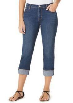 Women's Gloria Vanderbilt Lillian Skimmer Pants, Size: 12, Med ...