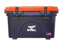 ORCA 26 quart Cooler, Navy/Orange >>> Read more reviews of the product by visiting the link on the image.