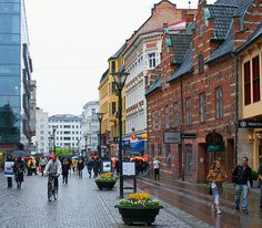 Lilla Torg, Malmo, Sweden  I loved walking the cobblestone everyday of this vacation.