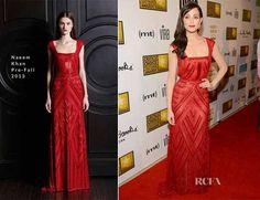 Emmy Rossum.  Red Elegance.
