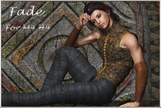Fade for M4H4 - $10.00 : This super conforming outfit for M4 and H4 comes with 5 high resolution texture maps at 3000 x 3000 - HazelNut, Ice, Ink, Night and Royal. There are also additional sets of textures to change the trousers into shorts and to shorten the sleeves or turn them into arm bracers. Each figure has separate texture groups for the Cloth, Rings, Laces and Edges so the textures can be mixed and matched as you like.