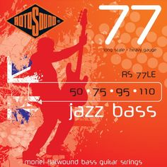 Rotosound RS77LE Monel Flatwound Bass Guitar Strings (50 75 95 110) - http://www.rekomande.com/rotosound-rs77le-monel-flatwound-bass-guitar-strings-50-75-95-110/