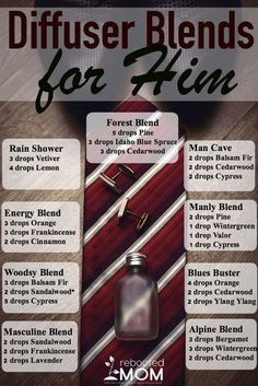 Essential Oil Diffuser Blends for Him