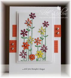 handmade card ... Silke used C4C33 Sketch ... beautiful interpretation ... like the focal point detail of popping up the image from the matting layer ... delightful doodle style flowers ...