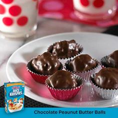 An airy, crispy, peanut butter crunch covered in chocolate. Bite-sized yummies perfect for Valentine's Day!