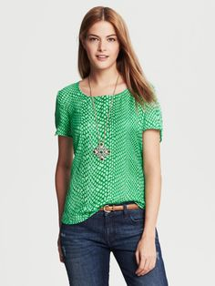 Love this: Snake Print Top Emerald @Lyst