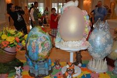 Easter egg display at The Grand Floridian