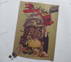 Barato Animação Hayao miyazaki meu vizinho totoro adorno desenho animado filme cartazes de papel Kraft restaurar antigas formas, Compro Qualidade Papéis de parede diretamente de fornecedores da China:   1 pcs Vintage posters combine shipping Vintage Style Retro Paper Poster Star Wars Darth Vader 42*30cm(16 X
