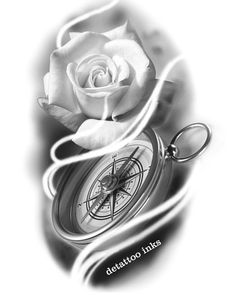 Sweet Tattoos, Up Tattoos, Time Tattoos, Skull Tattoos, Flower Tattoos, Body Art Tattoos, Hand Tattoos, Clock Tattoo Design, Floral Tattoo Design