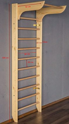 Wooden Wall Bars - Stall Bars For Home Fitness and Exercising - Exercise - Home Gym