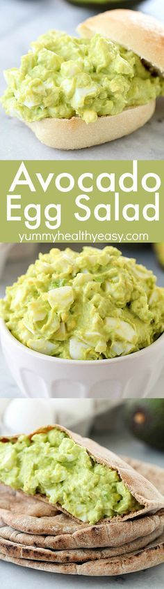 Avocado Egg Salad is completely mayo-free and seriously tastes amazing! Imagine if guacamole and hard boiled eggs had a baby, it would be Avocado Egg Salad! This healthy recipe only takes a few minutes to whip up and is protein & fiber rich! Healthy Drinks, Healthy Snacks, Healthy Eating, Diet Snacks, Candida Diet Recipes Snacks, Lunch Snacks, Clean Eating, Vegetarian Recipes, Cooking Recipes