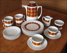 20 tlg. 70er Schirnding Bavaria Porzellan Kaffeeservice