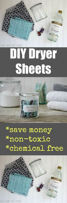 Do you know how many awful chemicals are in commercial, store bought dryer sheets?!? Way too many. It's SO easy to make your own, and they work great! You can even customize your own scent. T…