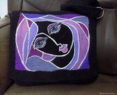 Валяная сумка – купить или заказать в интернет-магазине на Ярмарке Мастеров | Сумка выполнена в технике вязания и валяния из…