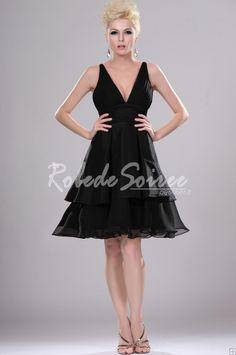 877ebd7d01d Sexy Little Black Dress Party col V  ROBECOCKTAIL0112  - €98.56   Robe de