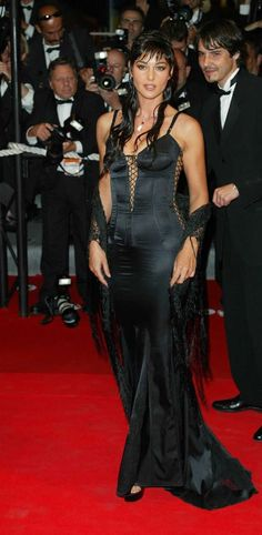 Monica Bellucci at Irreversible premiere during Cannes Film Festival 2002