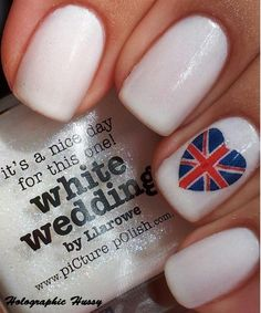 heart British nail designs for girls during 2014 world cup #Heart #British #Nails #Art #2014 # Trend#