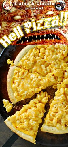 Macaroni And Cheese Pizza. Buy a box of Velveeta Shells and Cheese, and you're set to go!