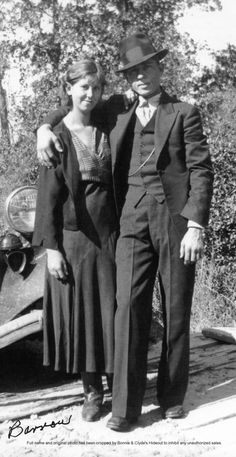 "Clyde Barrow with his sister, Lillian Marie Scoma Barrow (1918 - 1999). Marie was involved in most of the family meetings that took place while Bonnie and Clyde were on the run and remained a staunch defender of her older brother. Other siblings were: Elvin Wilson ""Jack"" Barrow (1894 - 1947) a law-abiding and peaceful man, Artie Adelle Barrow Keys (1899 - 1981), Nell May Barrow Francis (1905 - 1968), Marvin Ivan ""Buck"" Barrow, Sr. (1905 - 1933), and Leon C ""L.C."" Barrow (1913 - 1979)."