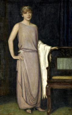 A Portrait of Marianne Mechler - Franz von Stuck  1924