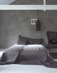 grey cement wall?
