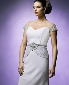 Daymor Couture 8009 Beaded Cap Sleeve Dress $730