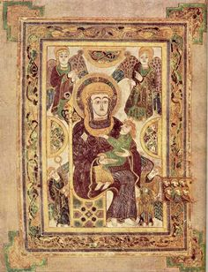 Public-domain images from the Book of Kells, free for your use, here at the Medieval History site.