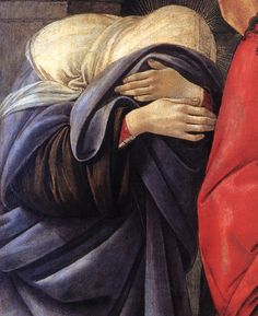 "Sandro Botticelli, ""Lamentation over the Dead Christ"" (detail)"