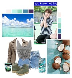 """""""On Vacation With Jungkook"""" by fantasy-lover-0719 ❤ liked on Polyvore featuring Levi's, WithChic, Casetify and Ashley Stewart"""