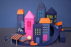 Cuatro ciudades imaginarias de papel para una exhibición en el Museo MARFour papercraft imaginary cities for an exhibition at the MAR Museum