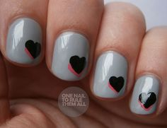 One Nail To Rule Them All: double hearts