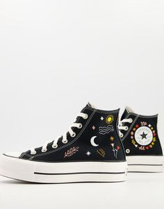 Dr Shoes, Swag Shoes, Hype Shoes, Me Too Shoes, Zapatillas All Star, Converse Noir, Embroidery Sneakers, Cute Nikes, Outfits With Converse