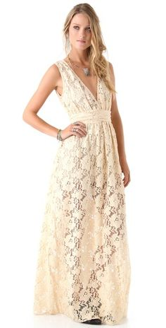 pretty gown for a relaxed summer wedding