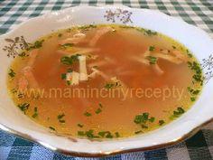 Králičí polévka – Maminčiny recepty Thai Red Curry, Cantaloupe, Fruit, Ethnic Recipes, Food, Essen, Meals, Yemek, Eten