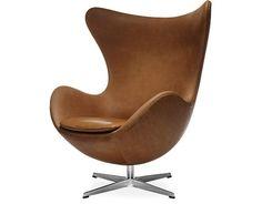 arne jacobsen egg chair  Design Arne Jacobsen, 1958  Aluminum, foam, upholstery  Made in Denmark by Fritz Hansen