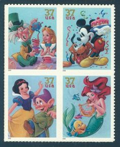 Disney Stamps the ones that were used on our Wedding Invitations Postage Stamps, Arte Disney, Disney Art, Looney Tunes Wallpaper, Walt Disney Characters, Disney Themed Outfits, Commemorative Stamps, Old Stamps, Disney Drawings