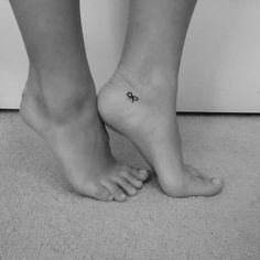 Small cute bow tattoo
