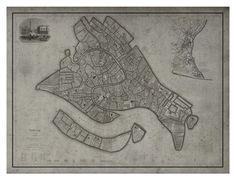 Venice Map : Vintage Map of Venice, Italy - Circa 19th C.