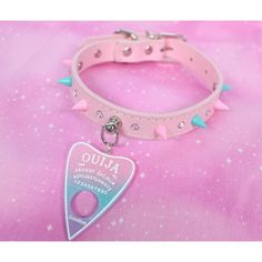 Pastel Glitter Ouija Collars Pastel Glitter Ouija Collar pink and blue. sold out Pastel Punk, Pastel Goth Fashion, Pastel Grunge, Kawaii Fashion, Soft Grunge, Kawaii Shoes, Kawaii Goth, Kawaii Clothes, Pastel Clothes