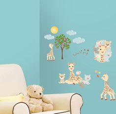 RoomMates Wallstickers Sophie The Giraffe