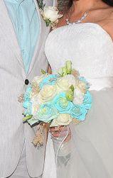 Ramo de novia menta. Wedding bouquet.