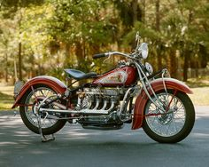 Classic Motorcycle Photograph - 1935 Indian 4 cyl. $29.95, via Etsy.