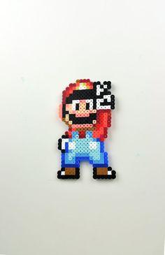 Perler Bead Magnet Super Nintendo Super Mario by TheCraftyChimera, $9.99