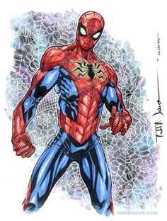 """toddnauck: """" All-New All-Different Marvel Spider-Man. Trying out the new costume, playing around with watercolor. """" *"""