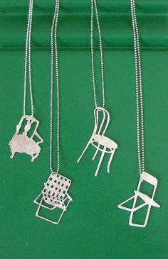 silver chair pendants
