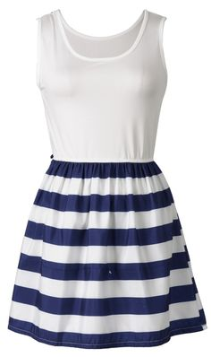 Navy and White color makes you close to the sea. So cute design for teen girls. Why not choose one? Tap the picture and take a look at Cupshe.com