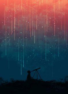Meteor rain by Picomodi